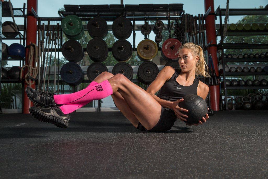 Bas de compression chez les sportifs